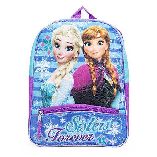 Disney Frozen Elsa and Anna Purple 12 Inch Toddler Backpack School Bag