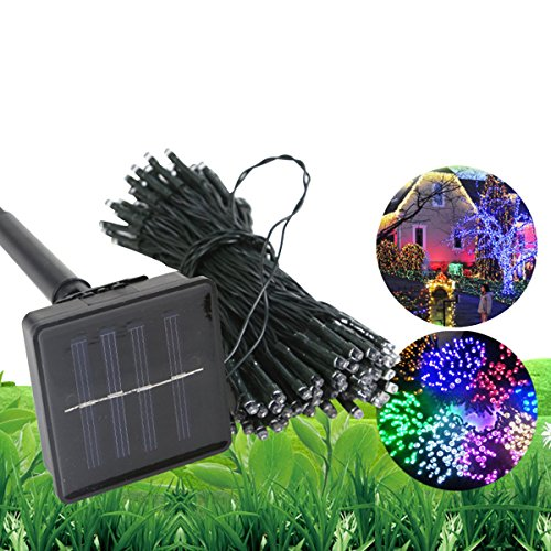 8' American Blue Green Pool (FuDa Solar Powered String Lights, 50 LED Copper Wire Lights, 23ft Colorful Starry Lights, Waterproof IP65 Fairy Christmas Decorative Lights for Outdoor,Wedding, Homes, Party, Halloween (4Colors))