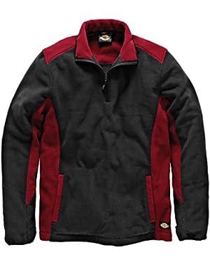 Mens Two Tone Full Zip Microfleece Work Jacket