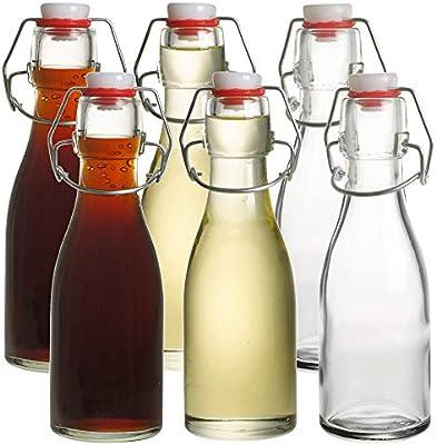 Aceitera y vinagre botellas de vidrio con tapa abatible 150 ml Set ...