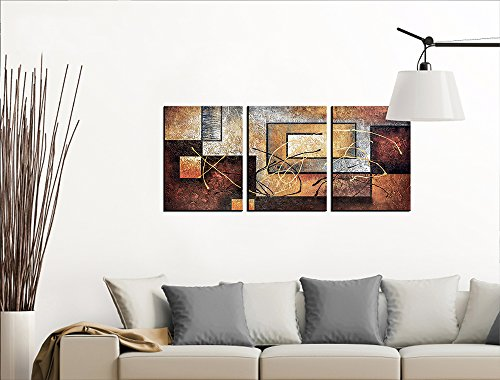 Large Product Image of Phoenix Decor-Abstract Canvas Wall Art Paintings on Canvas for Wall Decoration Modern Painting Wall Decor Stretched and Framed Ready to Hang 3 Piece Canvas Art