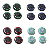 wii controller cover green - Fosmon [Set of 16] Analog Stick Joystick Controller Performance Thumb Grips for PS4   PS3   Xbox ONE, ONE X   Xbox 360   Wii U - Assorted (Set of 16)