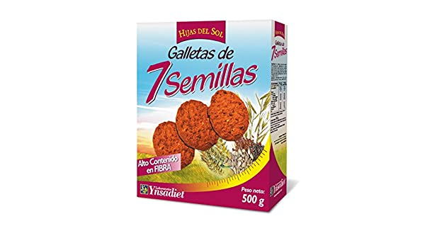 Hijas Del Sol Galletas de 7 Semillas - 500 gr: Amazon.es: Alimentación y bebidas