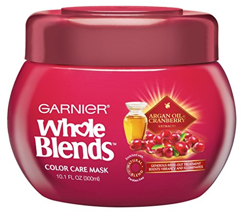 Garnier Whole Blends Color Care Mask, Argan Oil & Cranberry Extracts 10.1 oz (Pack of 2)