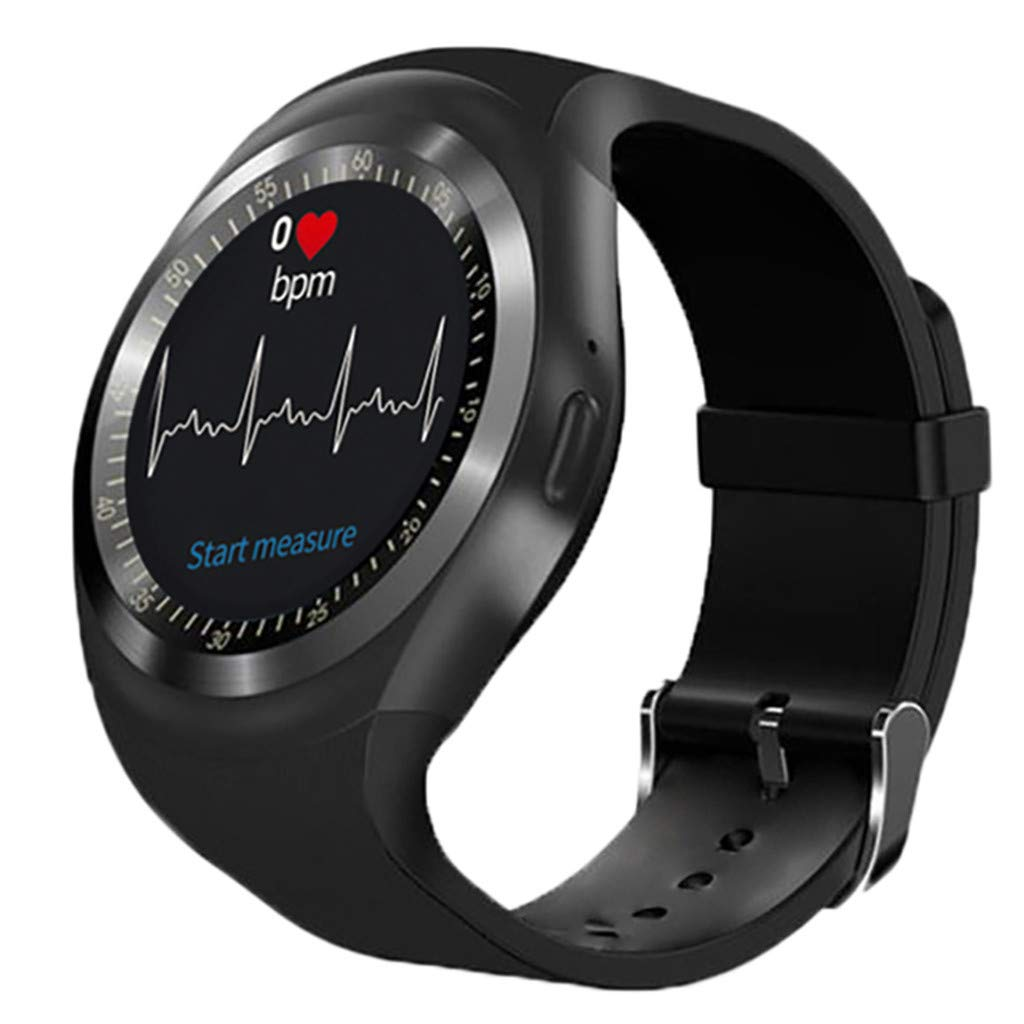 Bluetooth Y1hr Smart Watch Blood Pressure Heart Rate Phone Remote Camera Watch
