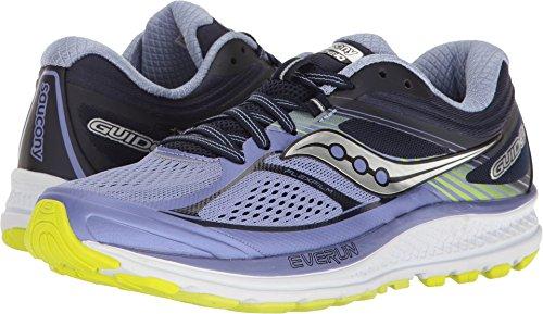 Saucony Women's Guide 10 Running Shoe, Purple Navy, 5.5 Medium US