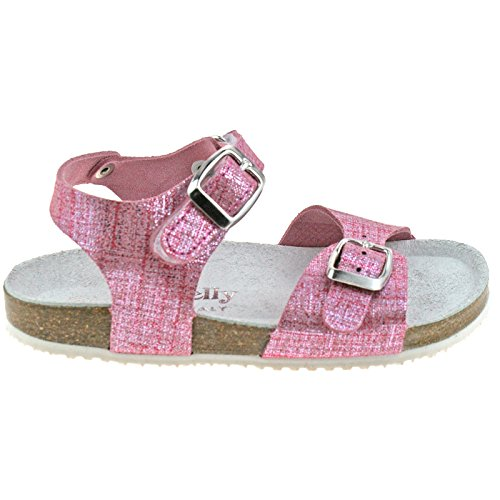 7 Lelli Glitter Rosa Pelle LK4584 UK GC01 25 Strap Kelly Sandals Adjustable Lara q7ZqgwrRWT