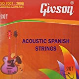 Givson Acoustic Guitar Strings Stainless Steel Material (Pack Of 6)