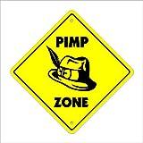 details west ho - Pimp Crossing Sign Zone Xing | Indoor/Outdoor | 12