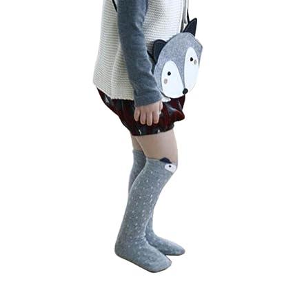 Koly® Niños Fox Calcetines de Rodilla del patrón; Niños calcetines altos pare años (