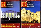 Mount Rushmore , Great Monuments Of Washington D.C. The White House , The Presidential Memorials , War Memorials : The History Channel American Icon 2 Pack Collection