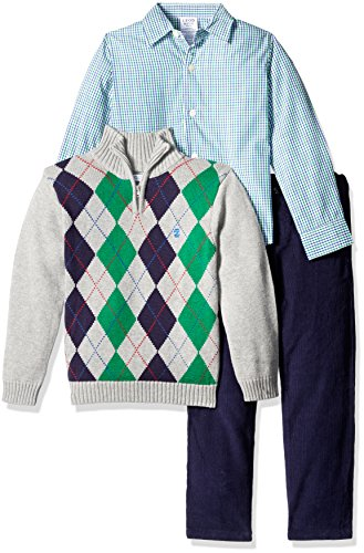 1/4 Zip Argyle Sweater - 7