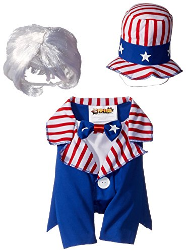 Collections PET20147 Uncle Sam Dog Costume, Small ()
