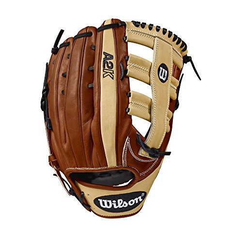 Wilson 2018 A2K 1775 Outfield Right Hand Gloves, Copper/Blonde, - Inch Baseball 12.75 Glove Outfield