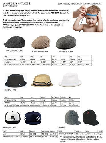 Born to Love - Baby Boy's Hat Vintage Driver Caps (XL 56cm (6-8 yrs), tan with Bow) by Born to Love (Image #8)
