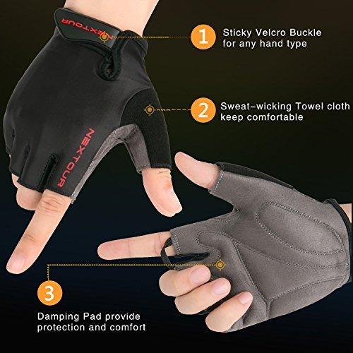 NEXTOUR Cycling Gloves Easy Off Mountain Bike Bicycle Half Finger Riding Biking