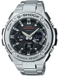 Casio Mens G SHOCK Quartz Resin and Stainless Steel Casual Watch, Color:Silver-Toned (Model: GST-S110D-1ACR)
