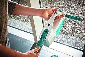 Leifheit Set aspirador limpiacristales Dry & Clean con palo para una limpieza 360 grados sin marcas, aspiradora vertical con 35 minutos de autonomía: Amazon.es: Bricolaje y herramientas