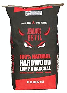 Jealous Devil All Natural Lump Charcoal, Restaurant Quality for Smoking and Grilling