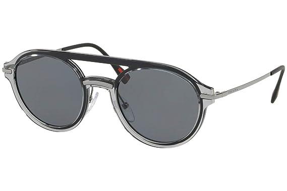 Amazon.com: Prada ps05ts anteojos de sol gris w/Polarizadas ...