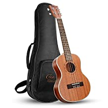 Hricane Tenor Ukulele UKS-1 26inch Professional Ukulele Starter Small Guitar Hawaiian Guitar Bundle with Gig Bag