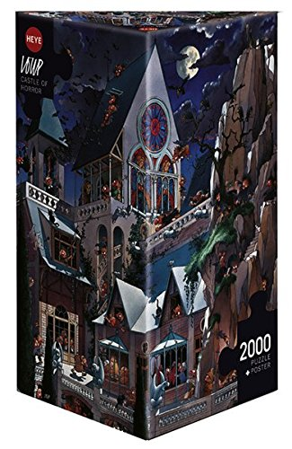 Heye Puzzles - Triangular , 2000 Pc - Castle of Horror, Loup