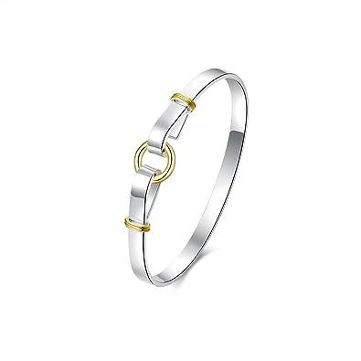 NYKKOLA Fashion Silver Jewelry Beautiful 925 Style Classic Vintage Wave Bracelet Bangle a1abqpJ7