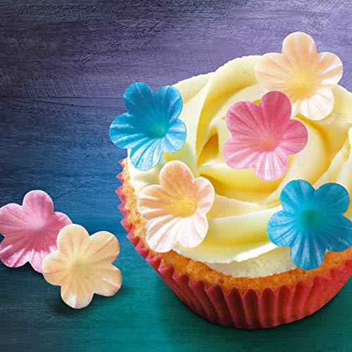 100 sugar cake cupcake decoration flower blossom YELLOW