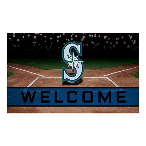 Fanmats 21933 Team Color Crumb Rubber Seattle Mariners Door Mat, 1 (Seattle Mariners Door Mat)