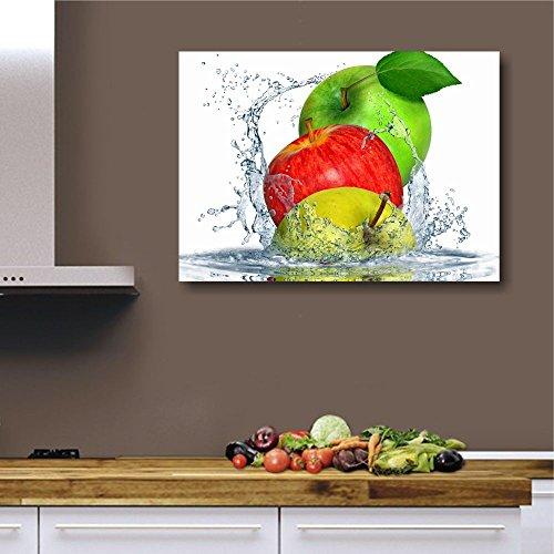 Apples Fresh, Quadri Cucina con Frutta 70 x 50 cm Quadro da Parete Stampa  su Tela Canvas | Decorazioni Arredamento Ristorante, Pannello Orizzontale,  ...
