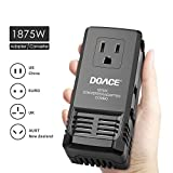 DOACE 1875W Universal Worldwide Travel Adapter and Converter, 220V to 110V Transformer for Hair Dryer Cell Phone, All in One International US Europe UK Italy Spain China Power Plug Adapter Charger