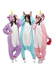 Unisex-adult Kigurumi Onesie Unicorn Pajamas
