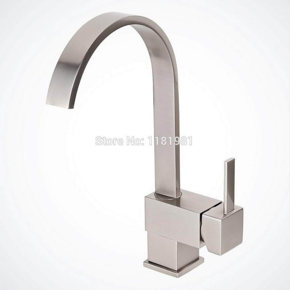 Lddpl Tap Brushed Nickel Kitchen Bathroom Vessel Sink Faucet, Single-Handle