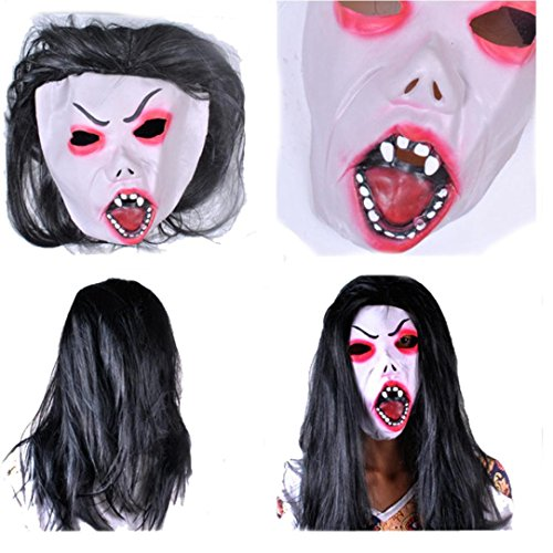 Couples Masked Halloween Costumes (Leoy88 Bloody Horror Halloween Mask Costume Cosplay Carnival (F))