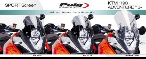 Bulle Racing pour KTM 1090 Adventure//R 17-19 fum/é fonc/é Puig 6847f