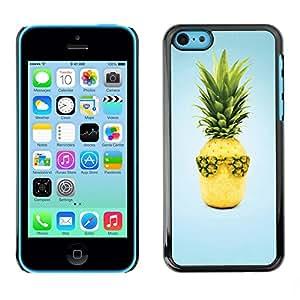 TopCaseStore / la caja del caucho duro de la cubierta de protección de la piel - Weed Cannabis Cool Surf Blue - Apple iPhone 5C