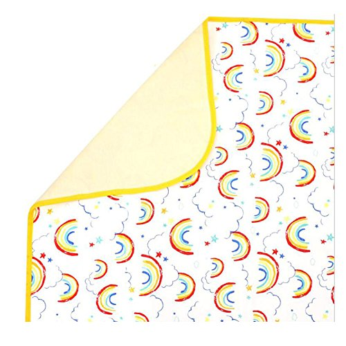 CuteOn Waterproof Diaper Changing Pad - Portable & Breathable Underpads - Mattress Pad Cover for Children or Adults 28 Rainbow Medium(27.5'' x 33.5'') by CuteOn