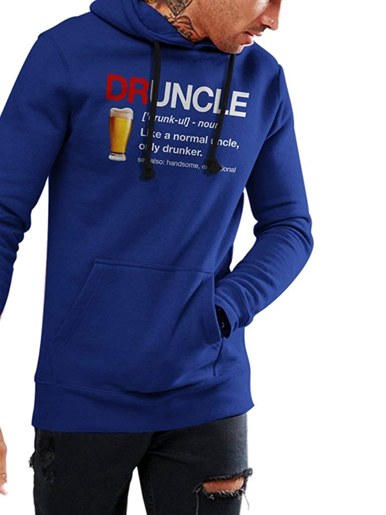 SMLBOO Druncle Meaning Funny Vintage Trending Awesome Shirt for Your Uncle Unisex Style Hoodie