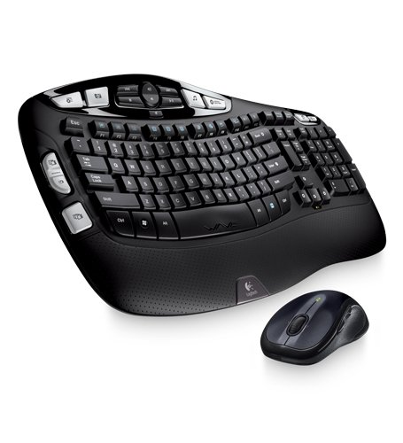 Logitech MK550 Wireless Wave Keyboard and Mouse Combo — Includes Keyboard and Mouse, Long Battery Life, Ergonomic Wave Design (Wireless Keyboard W Touchpad)