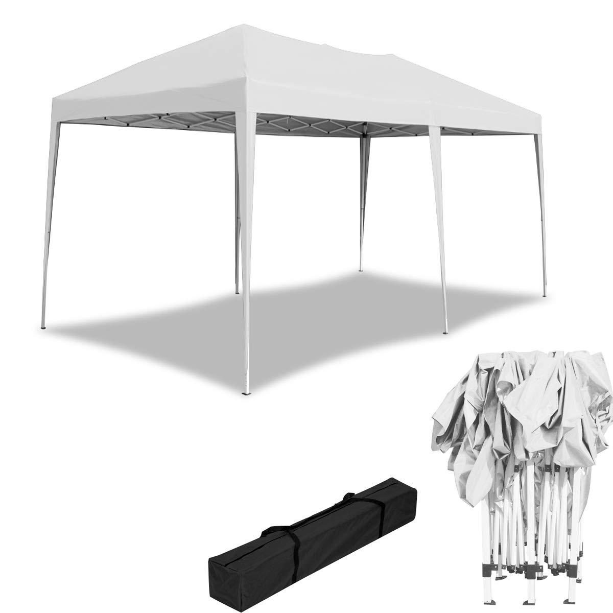 HENGMEI 3x6m Cenador Plegable para jardín Carpa pabellón Tienda sin Paredes Laterales para Eventos y Fiestas, Blanco: Amazon.es: Jardín