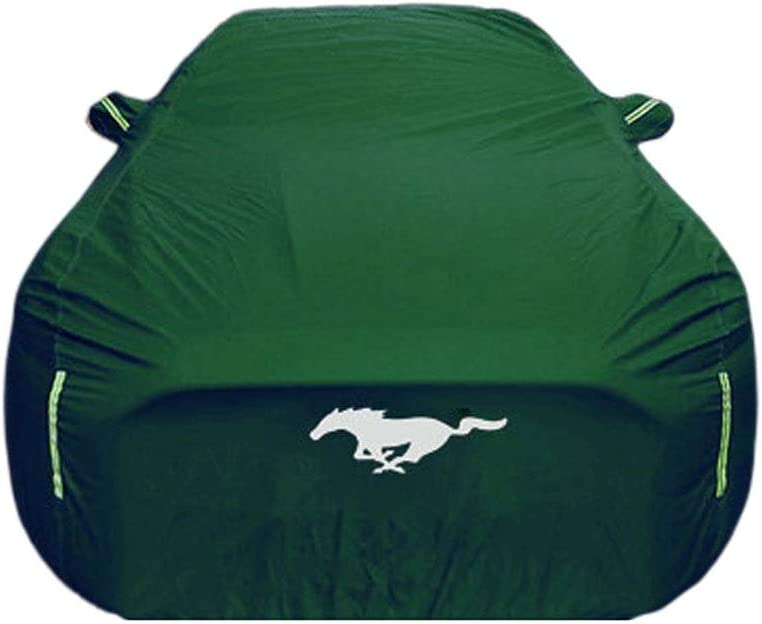 Color : Green, Size : Mustang Car-Cover Kompatibel mit Ford Mustang Spezial Car Cover Sonnenschutz Eindickung Four Seasons Universeller