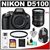 Nikon D5100 16.2 MP Digital SLR Camera Body with 18-200mm VRII Lens + 16GB Card + Backpack + Filter + Cleaning and Accessory Kit, Best Gadgets