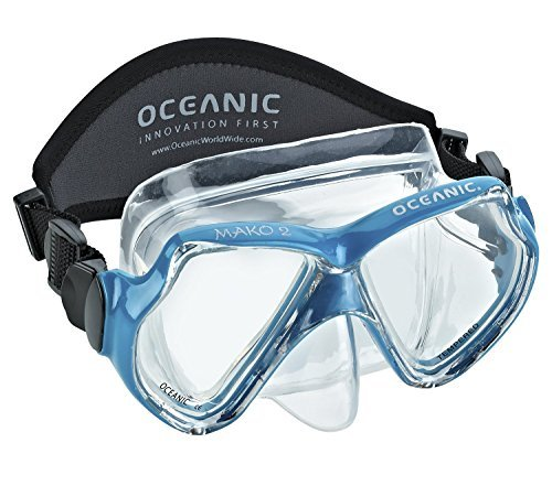 Mako Dive - Oceanic Mako 2 Dive Mask with Hard Box, Aqua