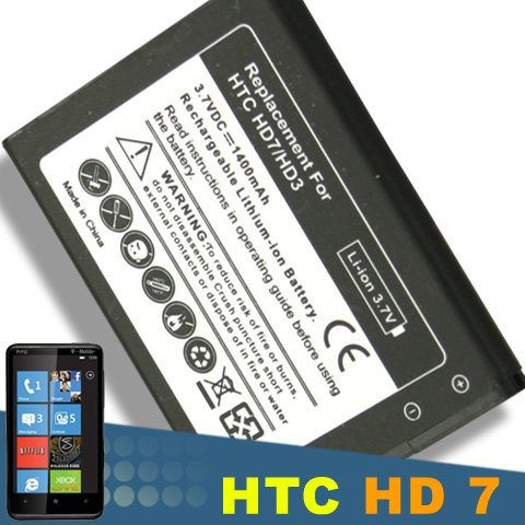 New Battery for HTC Hd7 HD3 T9292 Bd29100