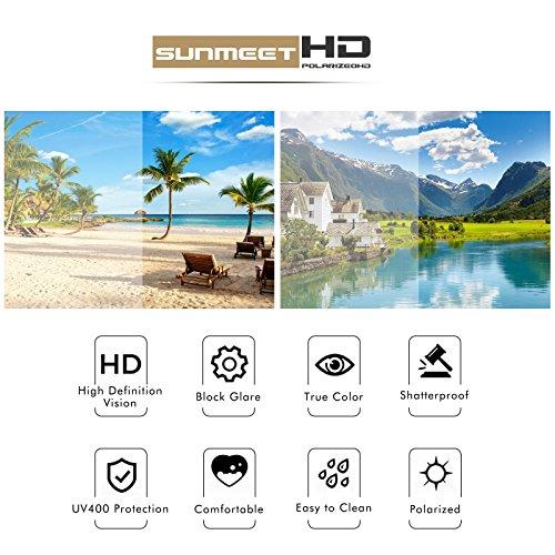 Polarizadas Clásico Gafas de sol Hombre A sol para Retro Negro SUNMEET S1001 Protection de UV400 Gafas Pistola Hombre dXCqw5nI