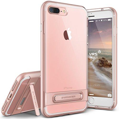 iPhone 7 Plus Hülle, VRS Design [Crystal Bumper][Rosa Gold] - [Transparent][Military Schutzhülle] [Klappständer] Handy Zubehör Für Apple iPhone 7 Plus 5.5 - 2016