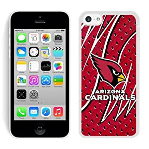 iPhone 5C Case ,Unique And Fashionable Designed Case With Arizona Cardinals 08 White For iPhone 5C Phone Case