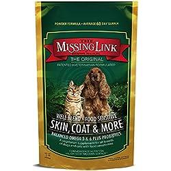 The Missing Link - Well-Blend All Natural Vegetarian Omega Superfood Dog & Cat Supplement - Healthy Skin, Coat & Digestion - 1lb