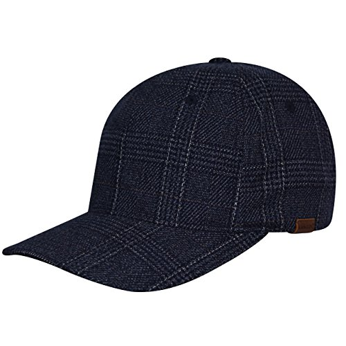 Kangol K5143HT Pattern Flexfit Baseball Baseball Cap, Navy Check - S/M