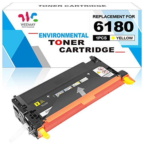Weemay Remanufactured Xerox Phaser 6180 113R00726 Toner Cartridge for Xerox Phaser 6180 6180N 6180DN 6180MFP-D 6180MFP (Yellow)